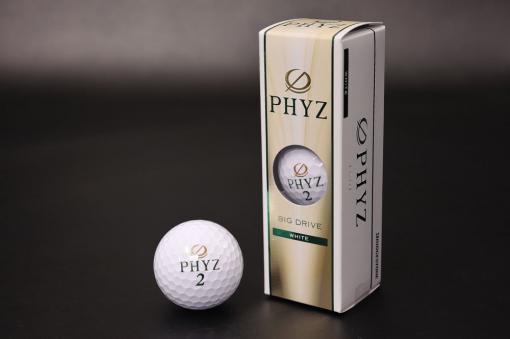 PHYZ(ファイズ)ゴルフボール2015:ホワイト3個入り【1520-s0584】